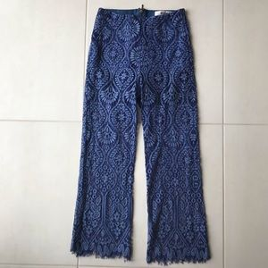 MSGM Milano Sheer Lace Crop Lined Pants